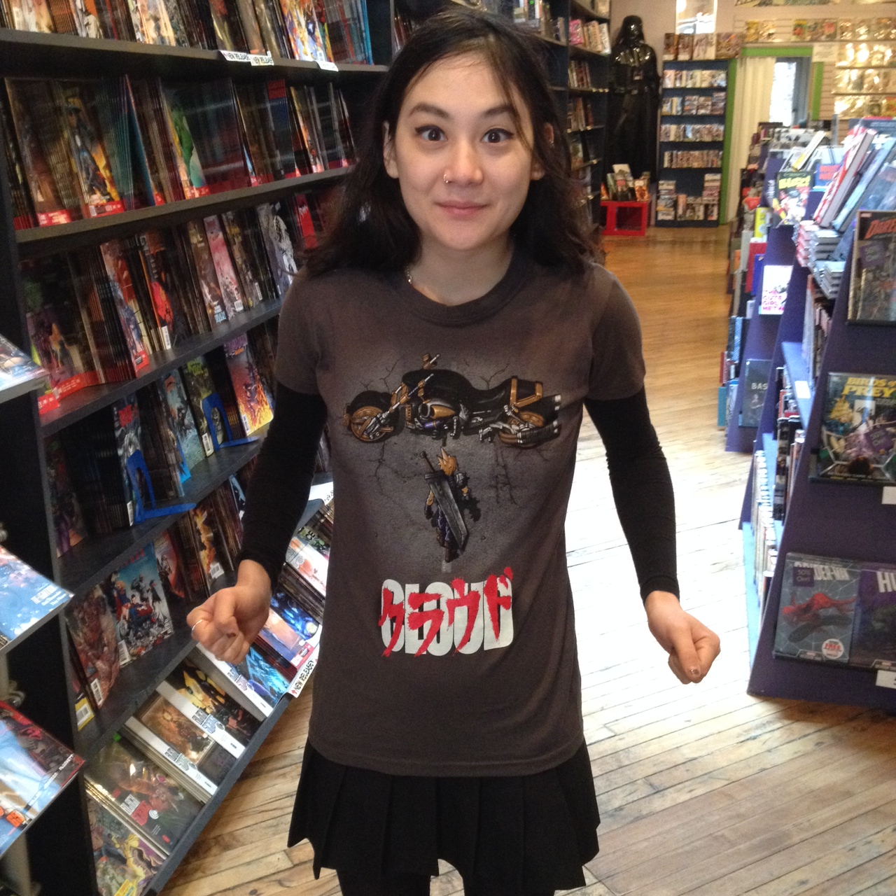 There are new TeeFury shirts in at both shops too! Michelle fell in love with this Akira / Final Fantasy VII mash-up one!