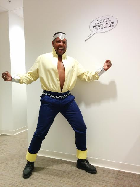 Here's one of our regular's dressed up as Classic Luke Cage!