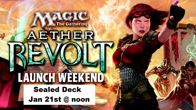 MTG: Aether Revolt Launch Event in W-G